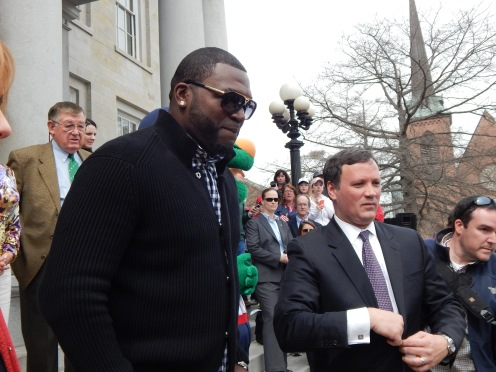 David Ortiz at the NH Lottery event at the NH state house