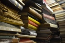 The basement acts as storage for thousands of books