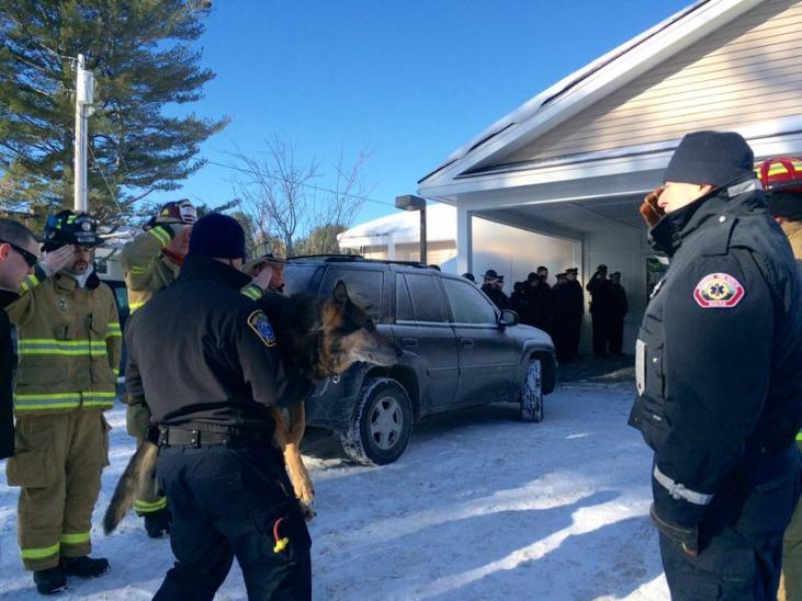 Police came to honor police dog Sultan before he was put down
